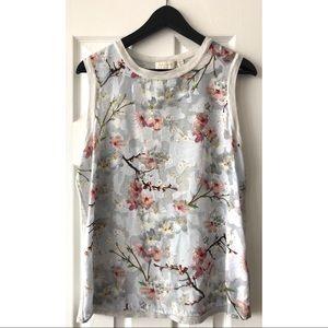Ted Baker- Oriental Bloom Knit Sleeveless Top